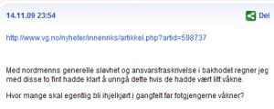 Faksimile fra VGDebatt.