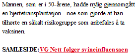 Faksimile fra VG 26. november 2009.