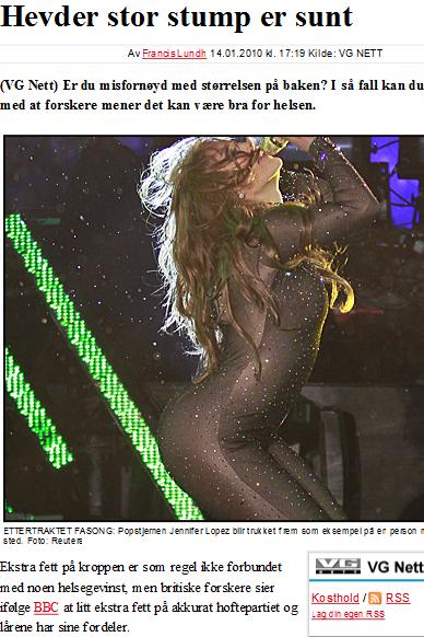 Faksimile fra VG 14. januar.