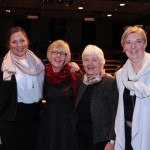Statssekretærene i Helse- og omsorgsdepartementet, fra venstre: Cecilie Brein-Karlsen (FrP),  Anne Grethe Erlandsen (H), Astrid Nøklebye Heiberg (H) og Lisbeth Normann (H). Foto: Helse- og omsorgsdepartementet. CC-lisens.